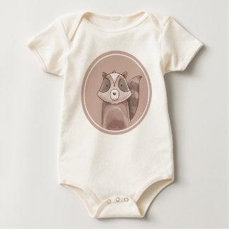 Forest portrait raccoon baby bodysuit