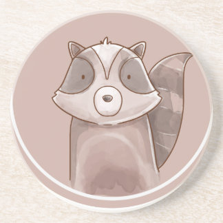 Forest portrait raccoon coaster