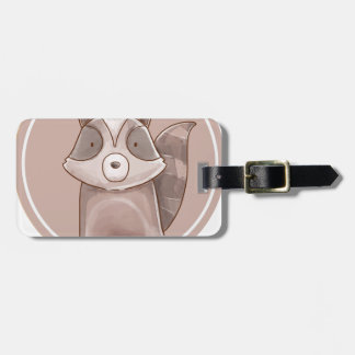 Forest portrait raccoon luggage tag