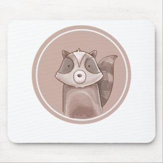 Forest portrait raccoon mouse pad