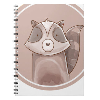 Forest portrait raccoon notebooks