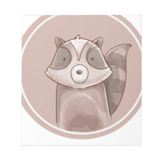 Forest portrait raccoon notepad