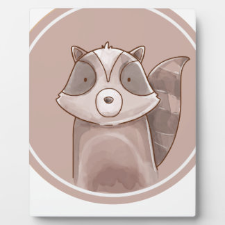 Forest portrait raccoon plaque