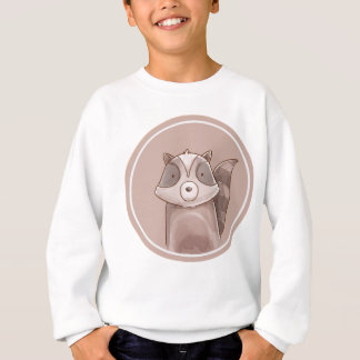 Forest portrait raccoon sweatshirt