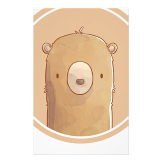 Forest portrait to bear stationery