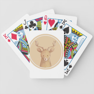 Forest portrait to deer bicycle playing cards