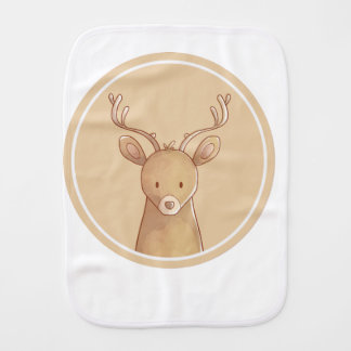 Forest portrait to deer burp cloth