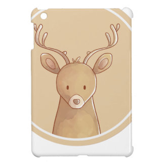 Forest portrait to deer iPad mini cases