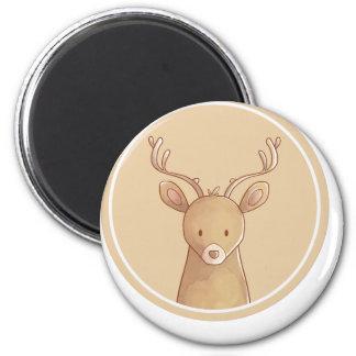 Forest portrait to deer magnet