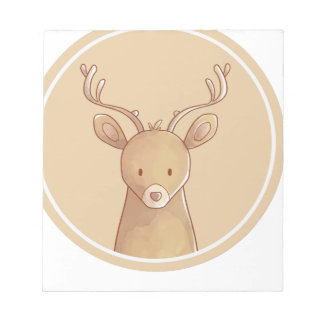 Forest portrait to deer notepad