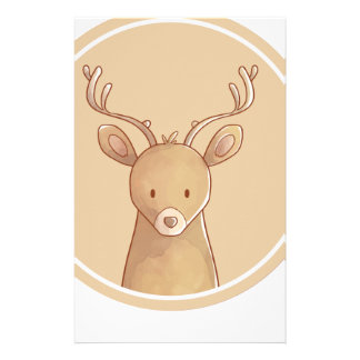 Forest portrait to deer stationery