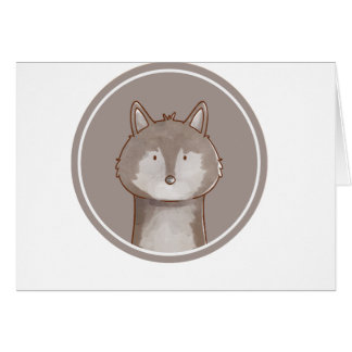Forest portrait wolf card