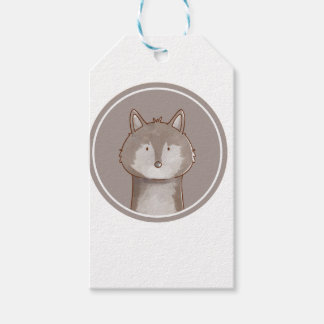 Forest portrait wolf gift tags