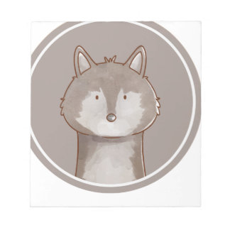 Forest portrait wolf notepad