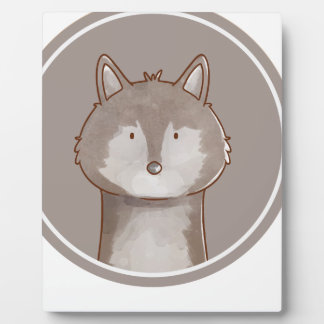 Forest portrait wolf plaque