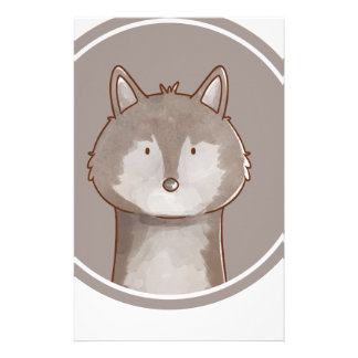 Forest portrait wolf stationery