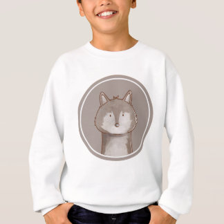 Forest portrait wolf sweatshirt