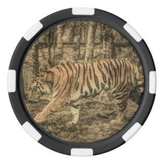 Forest predator wildlife Majestic Wild Tiger Poker Chips