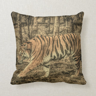 Forest predator wildlife Majestic Wild Tiger Throw Pillow