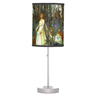 FOREST PRINCESS DWARVES KNIGHT FAIRYTALE FANTASY TABLE LAMP