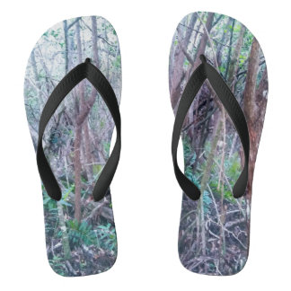 Forest Print Flip Flops