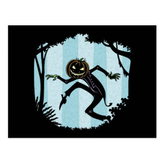 Forest Punkin Man Postcard