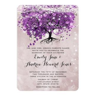 Forest Radiant Purple Under the Stars Mason Jar Card
