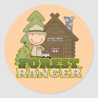 Forest Ranger Boy Tshirts and Gifts Classic Round Sticker