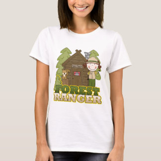 Forest Ranger - Brunette Girl T-Shirt