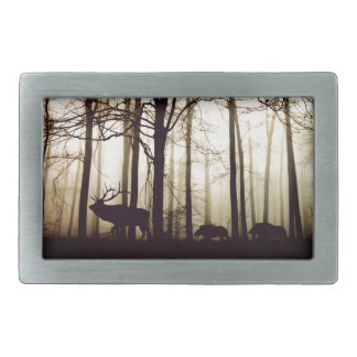forest rectangular belt buckles
