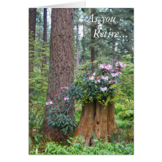 Forest Rhododendrons Floral Retirement Card