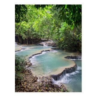 Forest River Lagoon, Khoung Si Falls, Laos Postcard