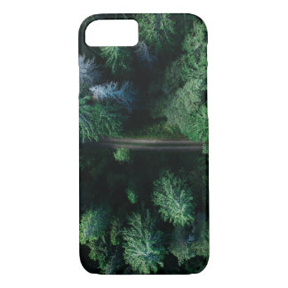 Forest road treetop green colorful iphone 7 case