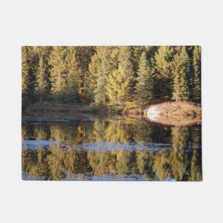 Forest Scene Lake Door Mat