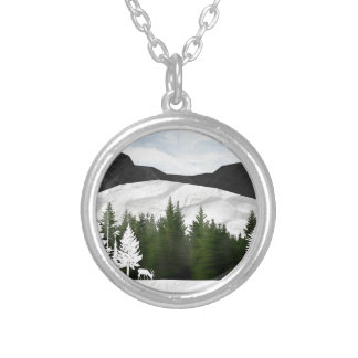 Forest Scene Silver Plated Necklace