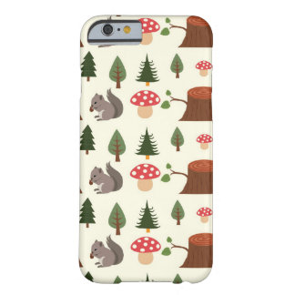 Forest Squirrel Pattern Barely There iPhone 6 Case