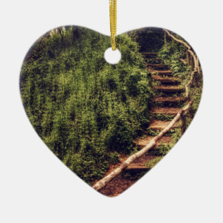 Forest Steps Ceramic Ornament