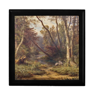 Forest Stream Heron Birds Meadow Gift Box