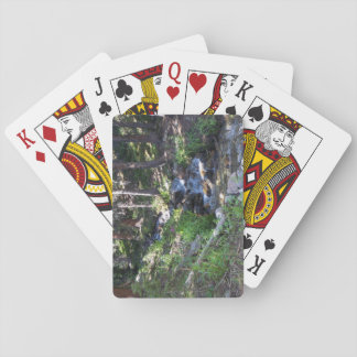Forest stream playing cards
