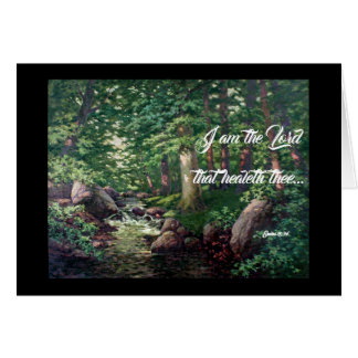 Forest Stream Trees God Heals Card