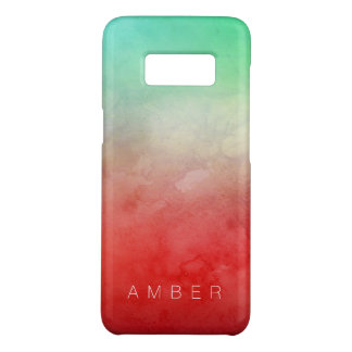 Forest Sunset Watercolor Personalized Case-Mate Samsung Galaxy S8 Case