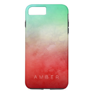 Forest Sunset Watercolor Personalized iPhone 8 Plus/7 Plus Case
