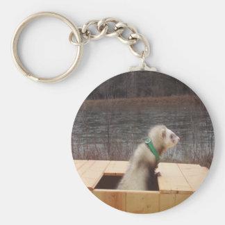 Forest the Ferret Accessories Basic Round Button Keychain