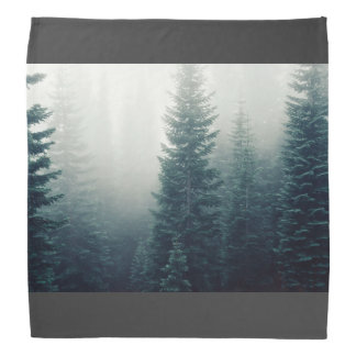 Forest Themed, Several Big Trees Of A Forest Surro Bandana