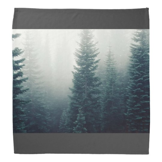 Forest Themed, Several Big Trees Of A Forest Surro Kerchief