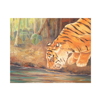 Forest Tiger Fine Art Canvas Print