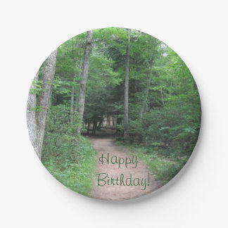 Forest Trail Paper Plate