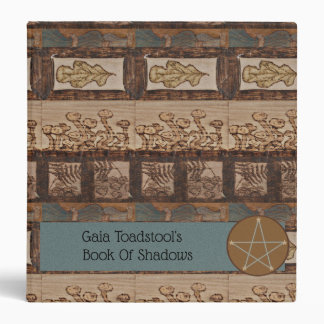 Forest Treasures Md. BOS Book of Shadows Witch Vinyl Binder