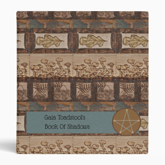 Forest Treasures Sm. BOS Book of Shadows Witch Vinyl Binders