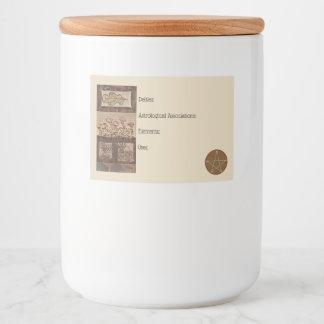 Forest Treasures Spell Ingredients Jar Labels